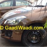 Spied Maruti Ciaz production version hood