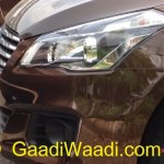 Spied Maruti Ciaz production version lights