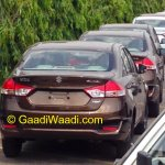 Spied Maruti Ciaz production version rear