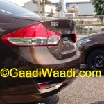 Spied Maruti Ciaz production version taillight
