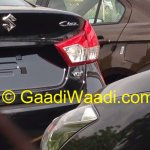 Spied Maruti Ciaz production version taillights