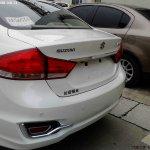 Suzuki Alivio spied production model boot