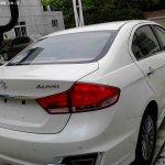 Suzuki Alivio spied production model taillights