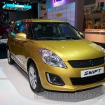 Suzuki Swift facelift front three quarter view at the 2014 Moscow Motor Show