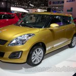 Suzuki Swift facelift front three quarters at the 2014 Moscow Motor Show
