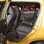 Suzuki Swift facelift rear seat at the 2014 Moscow Motor Show