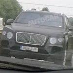 bentley SUV spied UK front