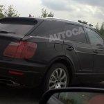 bentley SUV spied UK rear
