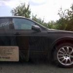 bentley SUV spied UK side