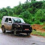 2014 Mahindra Scorpio facelift testing front