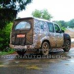 2014 Mahindra Scorpio facelift testing rear