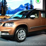 2014 Skoda Yeti facelift launch front quarter