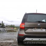 2014 Skoda Yeti rear profile view review