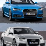 2015 Audi A6 facelift vs older model front