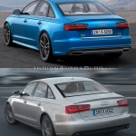 2015 Audi A6 facelift vs older model rear