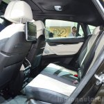 2015 BMW X6 rear seats at the 2014 Paris Motor Show