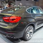 2015 BMW X6 rear three quarter at the 2014 Paris Motor Show