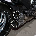 2015 Ducati Diavel Carbon tailpipe at the 2014 Moscow Motor Show