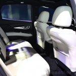 2015 Infiniti Q70 cabin rear at the 2014 Paris Motor Show