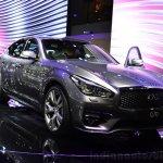 2015 Infiniti Q70 front three quarters at the 2014 Paris Motor Show