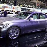 2015 Infiniti Q70 front three quarters left at the 2014 Paris Motor Show