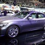 2015 Infiniti Q70 front three quarters left at the 2014 Paris Motor Show