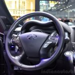 2015 Infiniti Q70 steering wheel at the 2014 Paris Motor Show