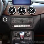 2015 Mercedes B Class centre console at the 2014 Paris Motor Show