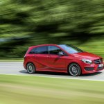 2015 Mercedes B Class facelift press shots profile
