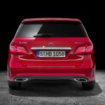 2015 Mercedes B Class facelift press shots rear