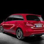 2015 Mercedes B Class facelift press shots taillight