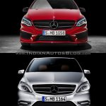 2015 Mercedes B Class facelift vs older model front