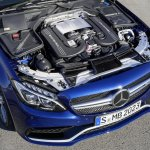 2015 Mercedes C 63 AMG 4.0L V8 engine press image