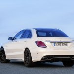 2015 Mercedes C 63 AMG S front rear quarters press image
