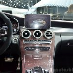 2015 Mercedes C 63 AMG centre console at 2014 Paris Motor Show