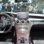 2015 Mercedes C 63 AMG dashboard at 2014 Paris Motor Show