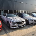 2015 Mercedes C 63 AMG spied front three quarter