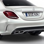 2015 Mercedes C 63 AMG white car rear low res