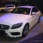 2015 Mercedes C Class at the 2014 Philippines Motor Show front quarter