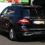 2015 Mercedes M Class facelift exposed rear