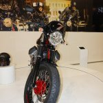 2015 Moto Guzzi V7 front at INTERMOT 2014