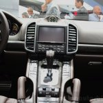 2015 Porsche Cayenne center console at the Paris Motor Show 2014