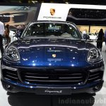2015 Porsche Cayenne front at the Paris Motor Show 2014