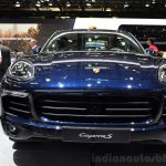 2015 Porsche Cayenne front fascia at the Paris Motor Show 2014