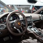 2015 Porsche Cayenne interior at the Paris Motor Show 2014