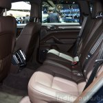 2015 Porsche Cayenne rear seat at the Paris Motor Show 2014