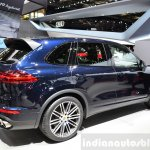 2015 Porsche Cayenne rear three quarters right at the Paris Motor Show 2014