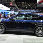 2015 Porsche Cayenne side at the Paris Motor Show 2014