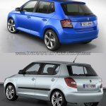 2015 Skoda Fabia rear vs current Skoda Fabia rear