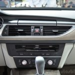 Audi A6 facelift center console at the 2014 Paris Motor Show